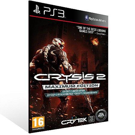 Crysis 2 Maximum Edition - Ps3 Psn Mídia Digital