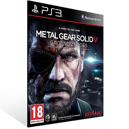 Metal Gear Solid 5 Ground Zeroes - Ps3 Psn Mídia Digital
