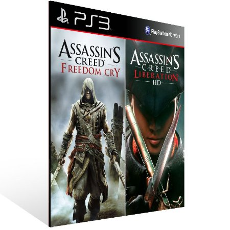 Assassins Creed Liberations + Freedom Cry Combo - Ps3 Psn Midia Digital