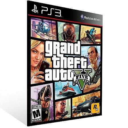 Grand Theft Auto V Gta 5 - Ps3 Psn Mídia Digital
