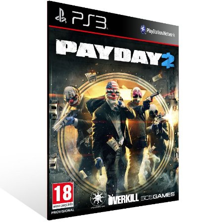 Payday 2 - Ps3 Psn Mídia Digital