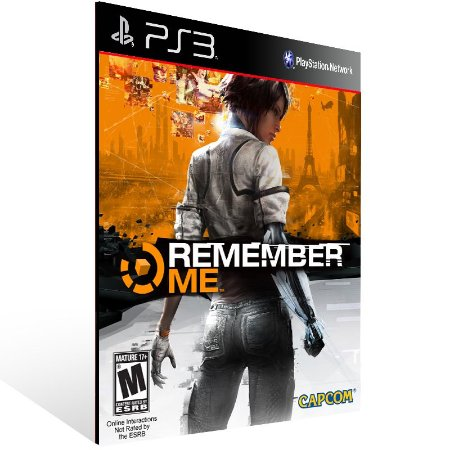 Remember Me - Ps3 Psn Mídia Digital