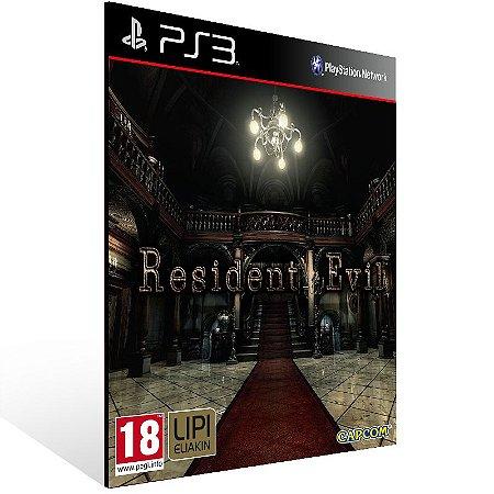 Resident Evil Hd Remaster - Ps3 Psn Mídia Digital