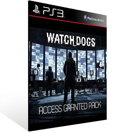 Watch Dogs Access Granted Pack - Ps3 Psn Mídia Digital