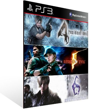 Combo Resident Evil 4 5 6 - Ps3 Psn Mídia Digital