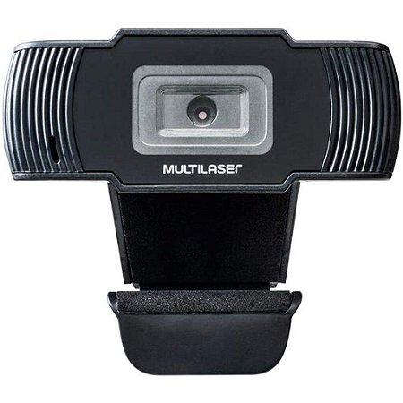 Webcam HD Multilaser 1280x720P 30fps Cabo 1,7m Usb 2.0 AC339