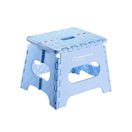 Banquinho Infantil Multiuso Dobrável Azul Multikids Baby