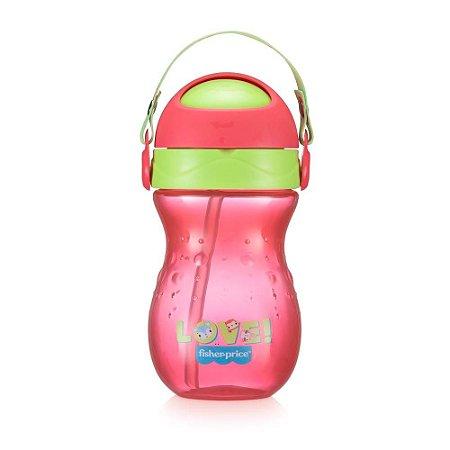 Copo Para Bebê Com Canudo Playful Rosa Ballet Fisher Price