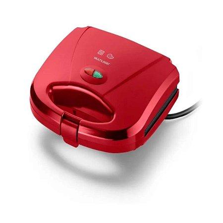 Sanduicheira e Grill Gourmet Chapa Dupla 750w Vermelha Multilaser