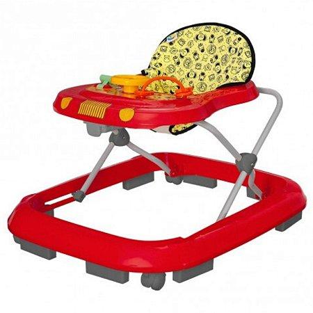 Andador para Bebê Musical Safari Tutti Baby Vermelho