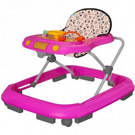 Andador para Bebê Musical Safari Tutti Baby Rosa