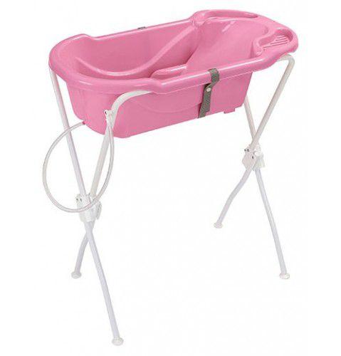 Banheira Ergonômica Com Suporte Tutti Baby Rosa