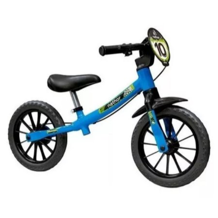 Bicicleta Infantil Sem Pedal Balance Bike Azul Masculina Nathor