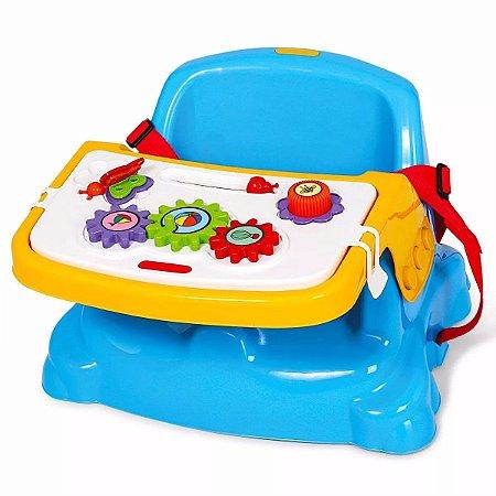 Cadeira de Alimentação e Didática 2 em 1 Azul Poliplac