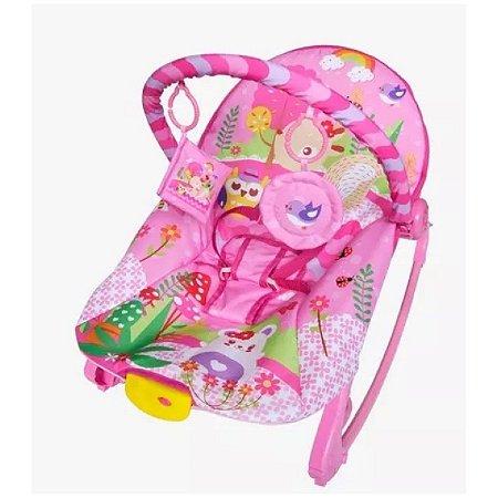 Cadeira de Descanso Musical para Bebê New Rocker Rosa