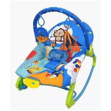 Cadeira de Descanso Musical para Bebê New Rocker Azul