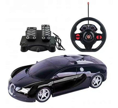 Carrinho de Controle Remoto Racing Control Midnight Preto