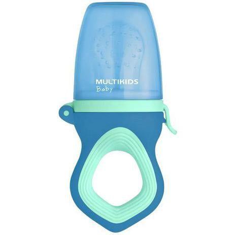 Alimentador para Bebê Com Tela De Silicone Funny Meal Azul