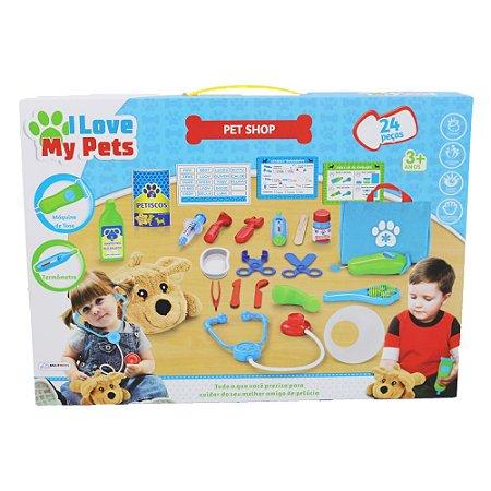 Brinquedo Pet Shop Infantil Kids I Love My Pets Multikids