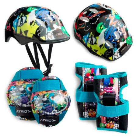 Kit De Proteção Infantil Para Skate Bike Patins Monster Atrio