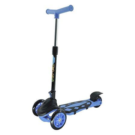 Patinete Infantil Menino Radical 3 Rodas Power Dobrável Azul