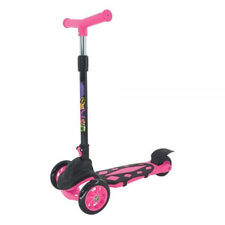 Patinete Infantil Menina Radical 3 Rodas Power Dobrável Pink