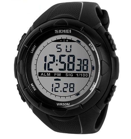 Relógio Masculino Skmei Digital Á Prova D'Água 1025 Preto