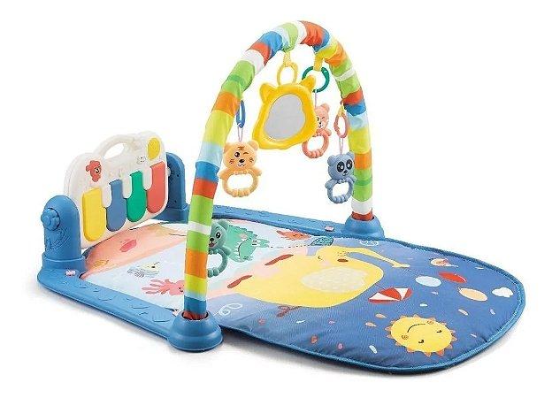 Tapete de Atividades para Bebê Musical Piano Alegria Azul