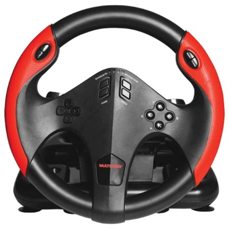 Volante Gamer Com Pedal Ps4 Ps3 Xbox One Pc Multilaser Js087