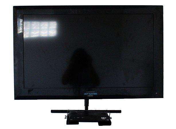 Suporte Tv Bi-articulado Até 55 Pol C/ Acessório Dvd Sky Net