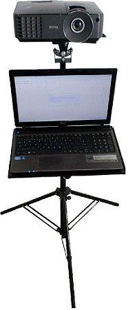 Suporte Projetor-tripé Pedestal C/acessorio Notebook Dvd