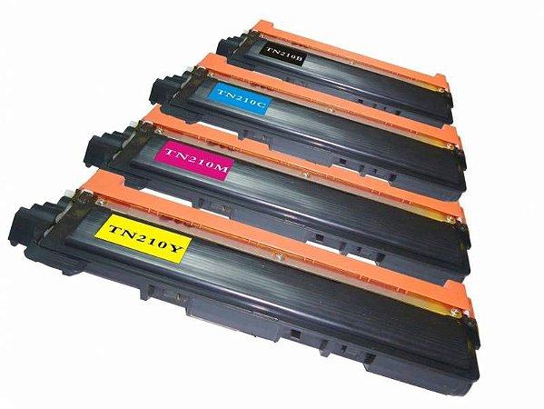 Kit com 4 Toner Compatível Brother TN210 HL3040CN MFC9010CN MFC9320CW HL8070 - PREMIUM