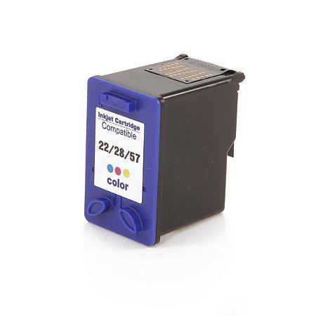 Cartucho de Tinta Compatível HP 22/28/57 XL Color