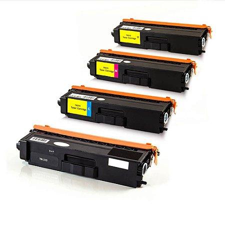 Kit 4 Toner Brother TN315 Compatível HL4140 HL4150 HL4570 MFC9970 MFC9460