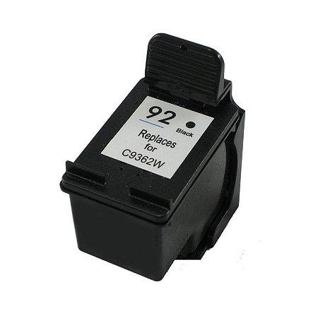 Cartucho Hp 92 Preto Compativel 25ml | Hp C9362WB C3180 1510