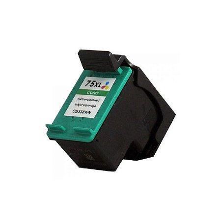 Cartucho Hp 75xl Colorido Compativel 14ml | CB335W D4260 J5780 C4280 C4480