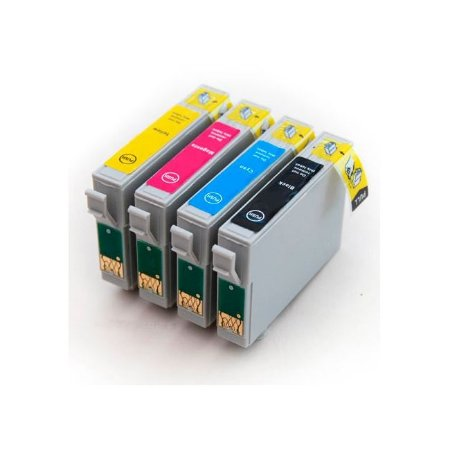 Kit 4 Cartuchos Epson T25 TX125 TX135 Compativeis T135 T1332 T1333 T1334