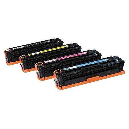 Kit 4 Toners Hp 125a sendo 1 de cada Cor Compativeis CB540 CB541 CB542 CB543