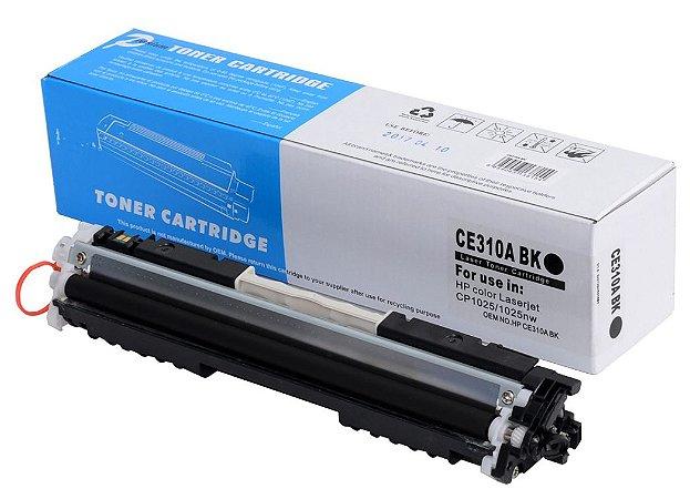 Toner Compatível HP 126A 130A CE310A CF350A Preto CP1025 M175 M176 M177 M275 - PREMIUM