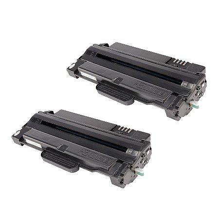 Kit com 2 Toner Samsung MLT-D105 Compativel ML1910 SCX4600 SCX4623