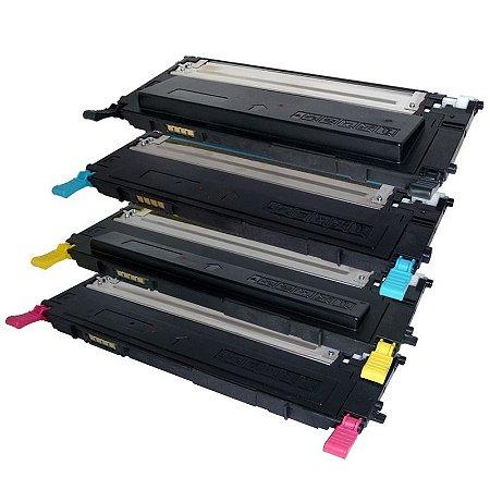 Kit 4 Toners Samsung CLP325 sendo 1 de cada Cor Compativeis CLT407 CLP320 CLX-3285
