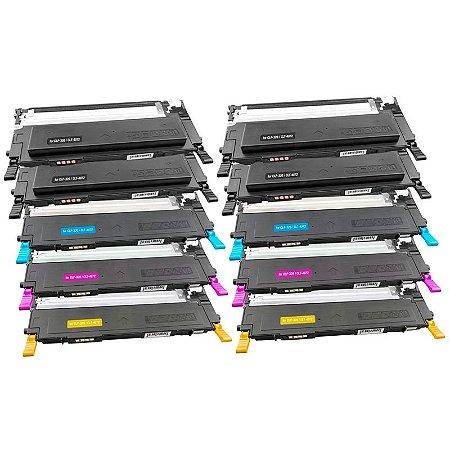 Kit 10 Toners Samsung CLP 325 Monte seu Kit Compativeis CLT-407 CLP 320 CLX3285