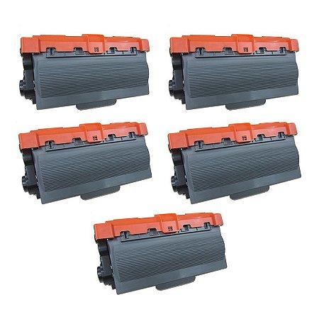 Kit com 5 Toner Brother TN3382 Compativel TN-3382 DCP8112 MFC8512 HL5452