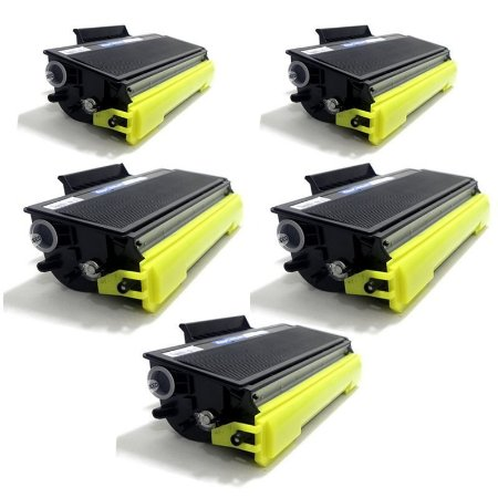 Kit com 5 Toner Brother TN580 Compativel TN-580 DCP8065 MFC6460 HL5240