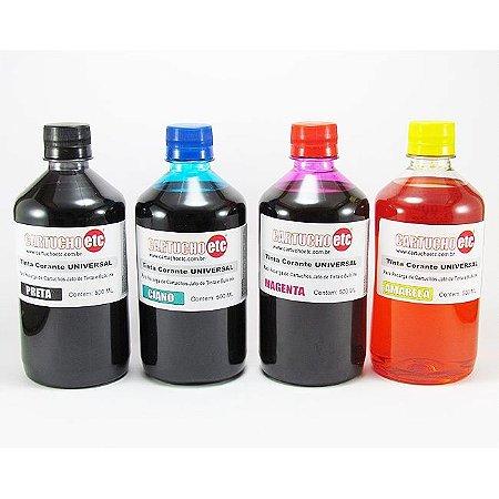 Kit com 2 Litros de Tinta Formulabs Corante Universal - HP Epson Canon Lexmark Brother