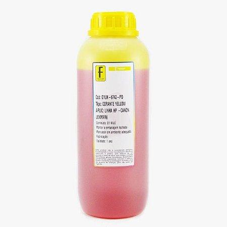 Tinta Formulabs HP Canon Lexmark IJD6742 Amarela Corante para Hp 1 Litro