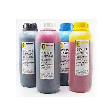 Kit 4 Litros de Tinta Formulabs Hp Premium UV 1 Litro de Cada Cor