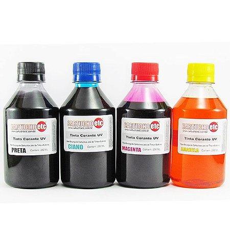 Kit 1 Litro de Tinta Formulabs Hp Premium UV 250ml de Cada Cor