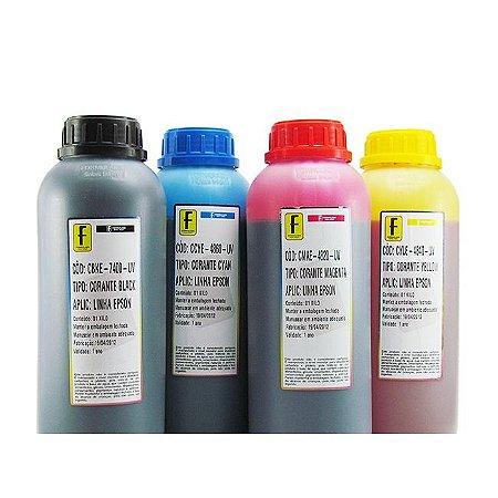 Kit 4 Litros de Tinta Formulabs Epson Corante UV 1 Litro de Cada Cor   4 Cores