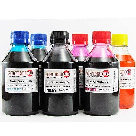 Kit 1,5 Litro de Tinta Formulabs Epson Corante UV 250ml de Cada Cor | 6 Cores